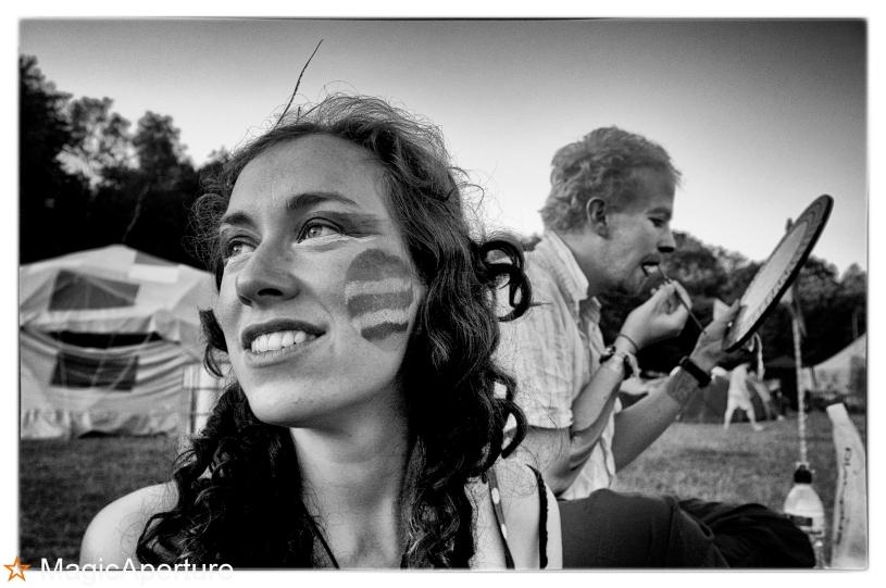 Sarah and Dhivan, Buddhafield Festival 2013